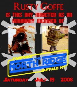 Rusty Goffe Certificate